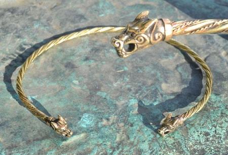 Hand forged jewels steel bracelets damasteel jewelry