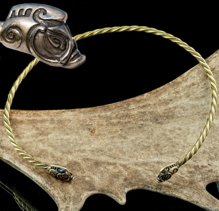 COLLACH, celtic brass torques, torc