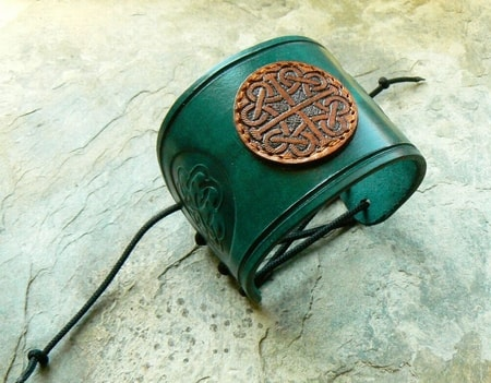 Celtic Leather Bracelets Cuffs
