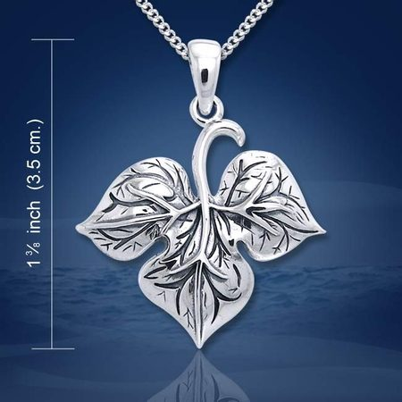 LEAF N THE WIND, silver pendant, Ag 925