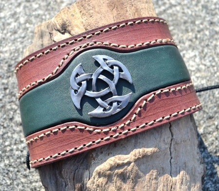 CELTICA, LEATHER BRACELET