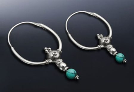 SILVER EARRINGS with TURQUOISE