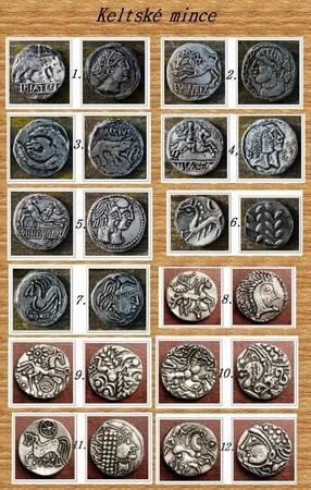 SET OF 12 Iron Age Coins, Celtic Coins