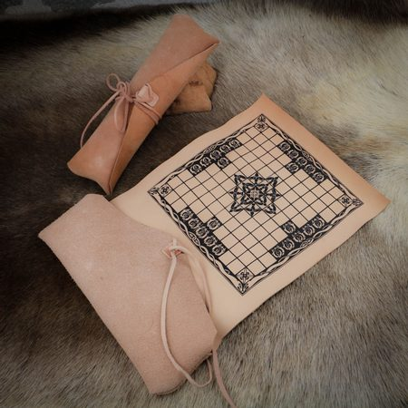 HNEFATAFL OR TAFL, VIKING BOARD GAME - LEATHER CASE ONLY