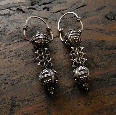 SLAVIC EARRINGS, Xth Century, silver 925