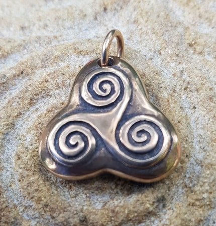 TRISKEL Celtic Pendant from bronze