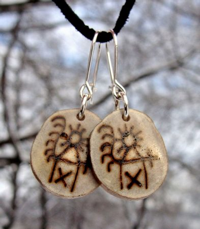 SAAMI EARRINGS, Goddess of Women, jewelry of Lapland