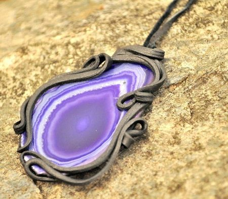 AGATE PENDANT purple