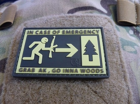 IN EMERGENCY, 3D velcro patch