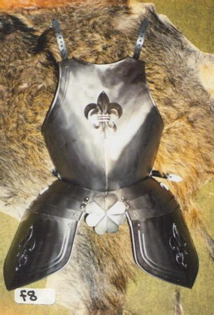 DECORATED BREAST PLATE