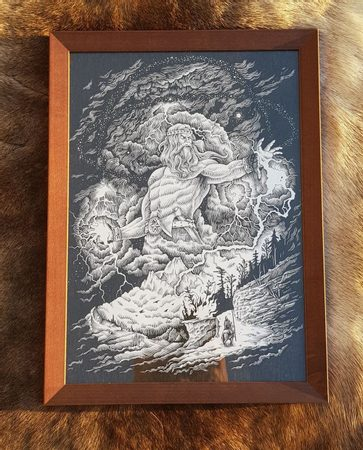 PERUN, FRAMED PICTURE