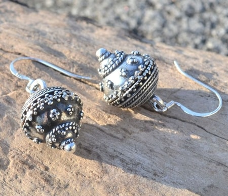 SLAVIC GOMBS, SILVER EARRINGS, AG 925, 12 G