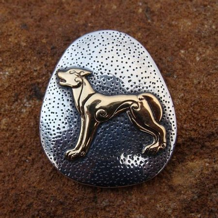CELTIC WOLF, silver pendant
