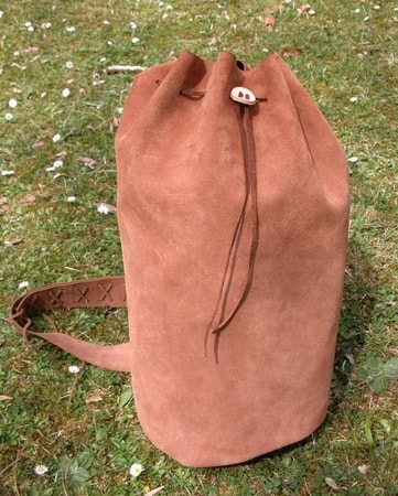 MEDIEVAL LEATHER BAG - KNAPSACK - GOTHIC RUCKSACK