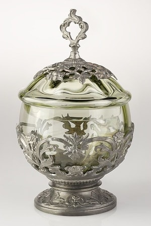 SUGAR BOWL, forrest glass