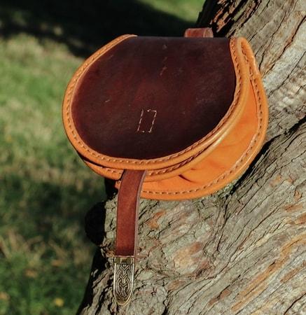 Gokstad Viking Leather Bag Pouch Wulflund Com