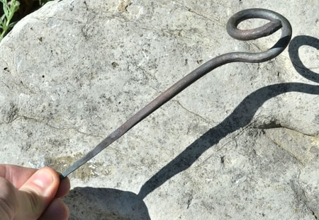 FORGED SPIRAL TENT PEG