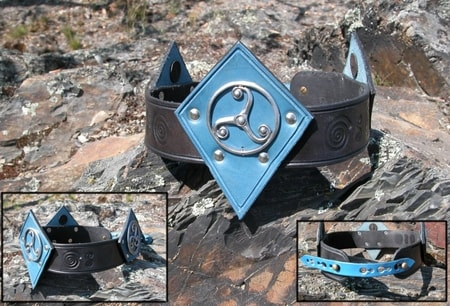 LEATHER LARP CROWN - FANTASY ACCESSORY - LARP