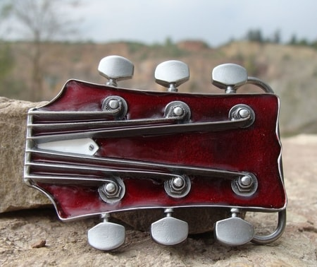 GUITAR HEAD, belt buckle