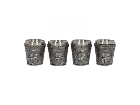ARMOURED SHOT GLASS, set of 4