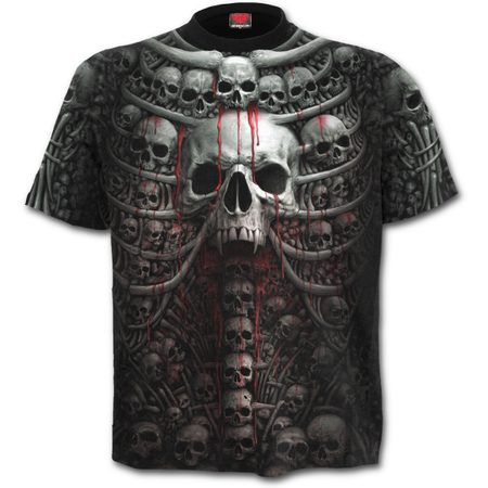 DEATH RIBS - Front Print T-Shirt Black
