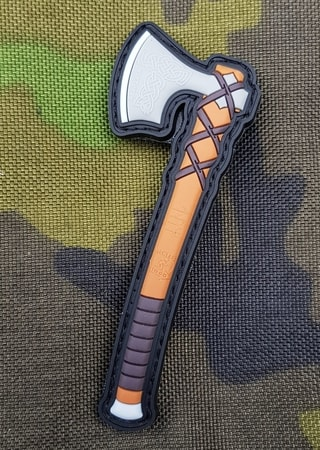 VIKING AXE - Ragnar, 3D rubber patch