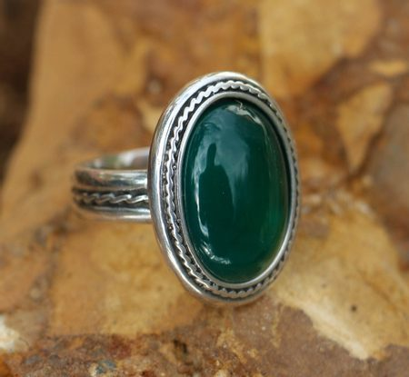 ANTICA, SILVER RING AND AGATE