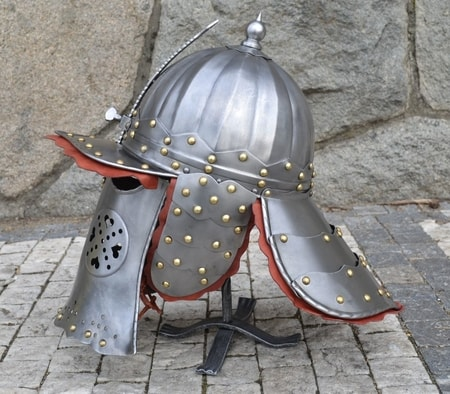LOBSTER-TAIL HELMET, exact museum replica - wulflund.com