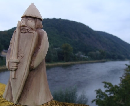 LEWIS CHESSMAN, the rook, Lewis Chess, Scotland, Chess Figures, Viking, Medieval. Stuatue For Sale