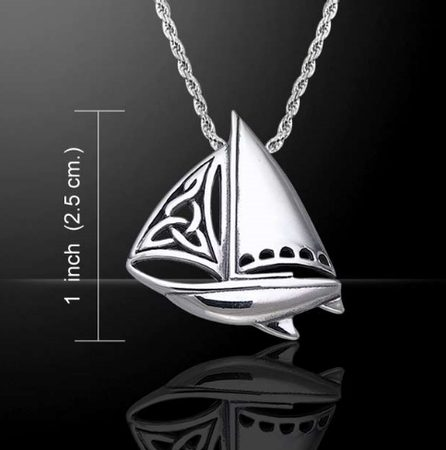 SAILBOAT WITH CELTIC KNOTS