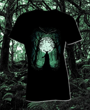 HERNE, THE GUARDIAN OF THE FOREST, LADIES' T-SHIRT