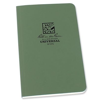 Rite in the Rain - All-Weather Notebook - 4 5/8x7 1/4'' - 974 - Olive