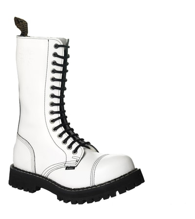 Leather boots STEEL white full 15-eyelet-shoes - wulflund.com: https://www.wulflund.com/leather-fashion-t-shirts/steel-boots/leather-boots-steel-white-full-15-eyelet-shoes.html