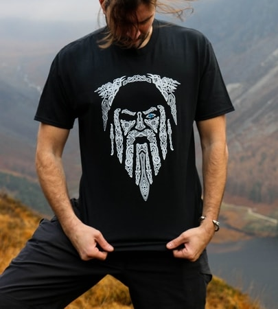 premium selection 07d31 a9d6f ODIN on the Throne, Ladies Viking T-Shirt - wulflund.com