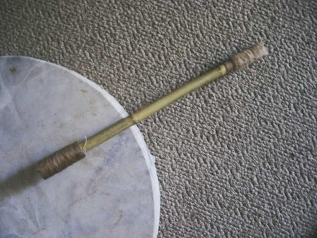 WILLOW DRUMSTICK with leather
