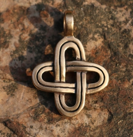 SIMPLE KNOT, bronze pendant