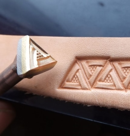 TRIANGLE, leather stamp