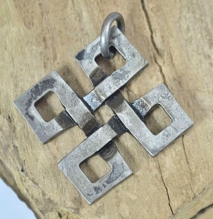 ENDLESS KNOT, FORGED PENDANT