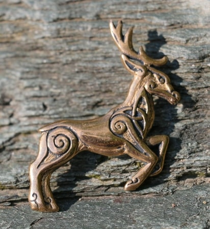 CELTIC DEER - Herne, bronze pendant
