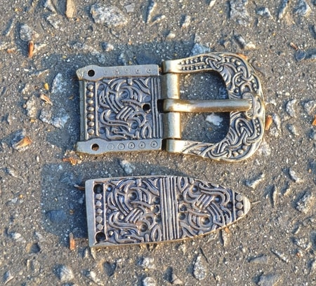 VIKING BELT SET, buckle and belt end