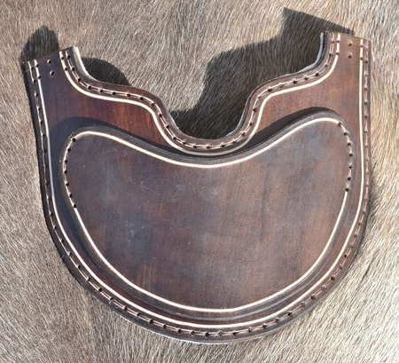 FACE PROTECTOR FOR HELMETS, leather