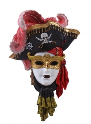 PIRATE WOMAN, mask, decorative