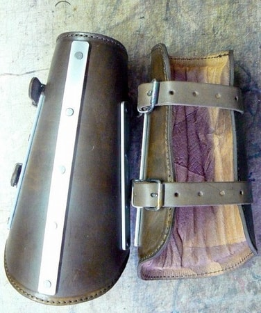 Banded Leather Arm Braces, viking