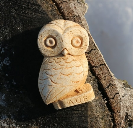 Owl of Goddess Athena, magnet