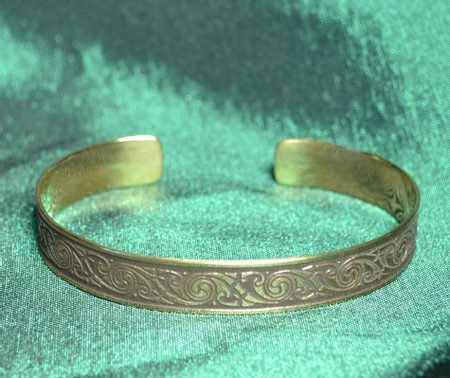 DAIRINN, brass bangle, Made in Ireland
