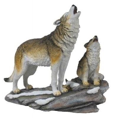 HOWLING WOLF statue wulflundcom