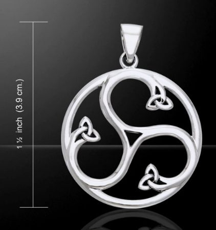 FIRE, WATER, AIR, triskel pendant, siver 925