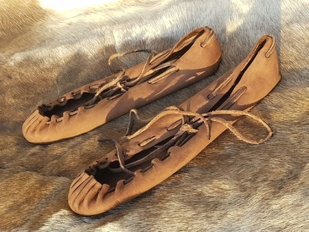 Celtic or medieval leather shoes