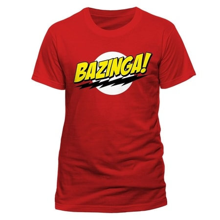 BIG BANG THEORY - BAZINGA, UNISEX T-SHIRT, RED