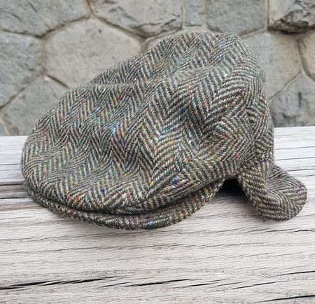 Eske Hat Tweed, Cap with Flap, Grey